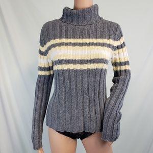 Aeropastle Striped Turtleneck Sweater size Medium